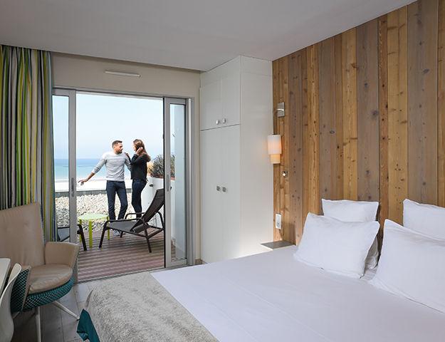 Hôtel de la Baie & Thalasso Prévithal - Chambre vue mer