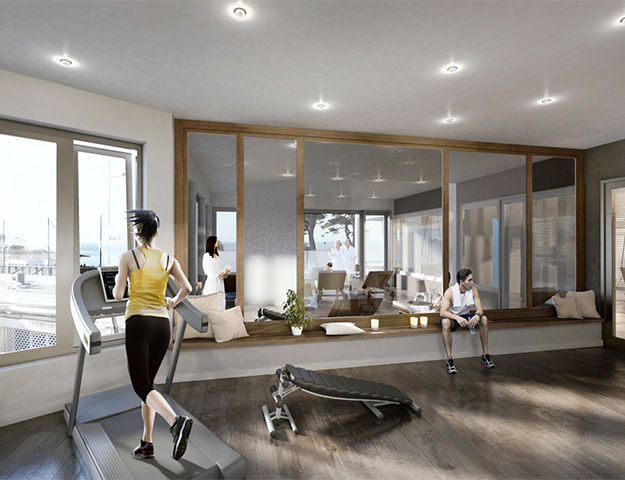 Le Grand Hôtel Abbatiale - Salle fitness