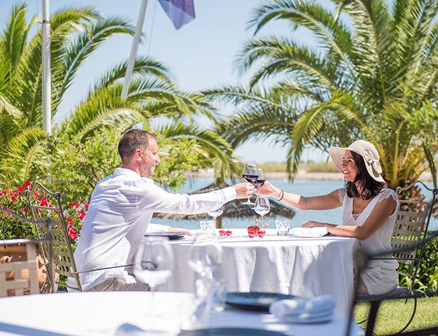 Relais et Châteaux Ile de la Lagune - Terrasse du restaurant