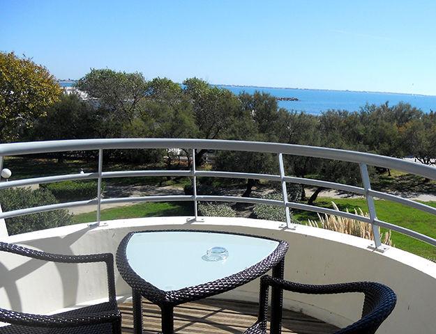 Corallines Thalasso la Grande Motte - Terrasse vue jardin et mer