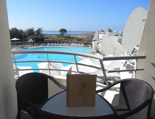 Corallines Thalasso la Grande Motte - Terrasse vue mer et piscine
