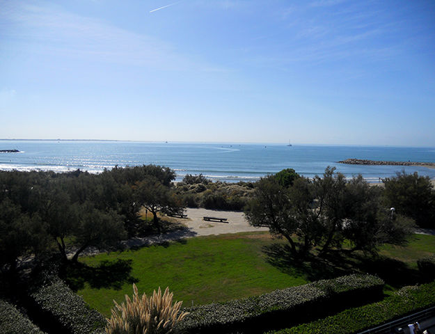 Corallines Thalasso la Grande Motte - Vue jardin et mer