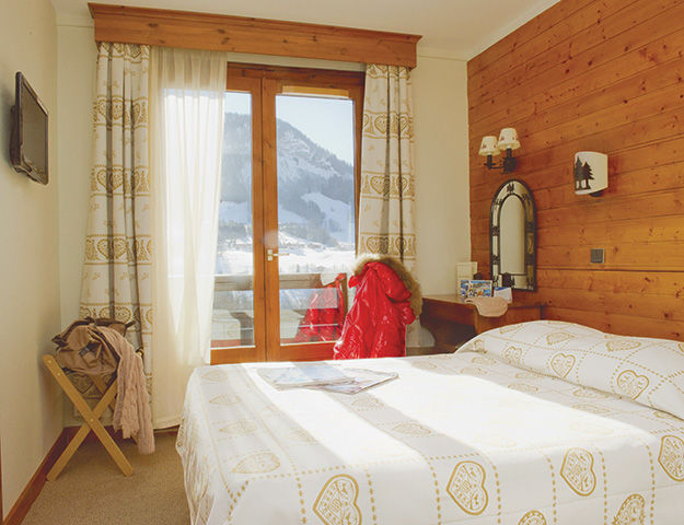 Les Chalets Du Prariand - Chambre vue mont blanc