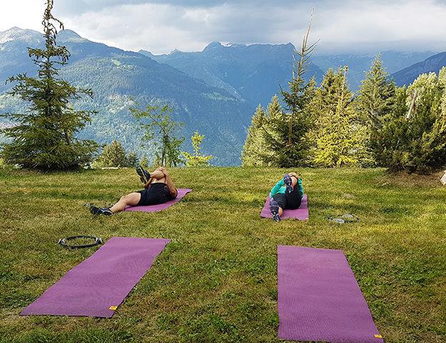 Quintessence Retraite Sport et Bien-être - Seance de stretching